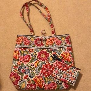 Vera Bradley Hope Garden Tote Bag & coin purse